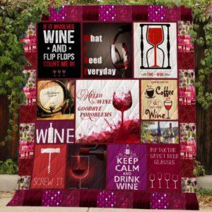 Wine Quilt Blanket