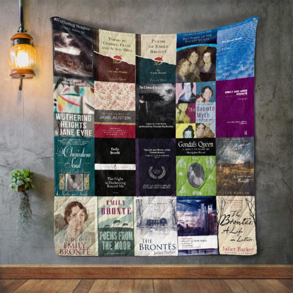 Emily Brontë Books Quilt Blanket