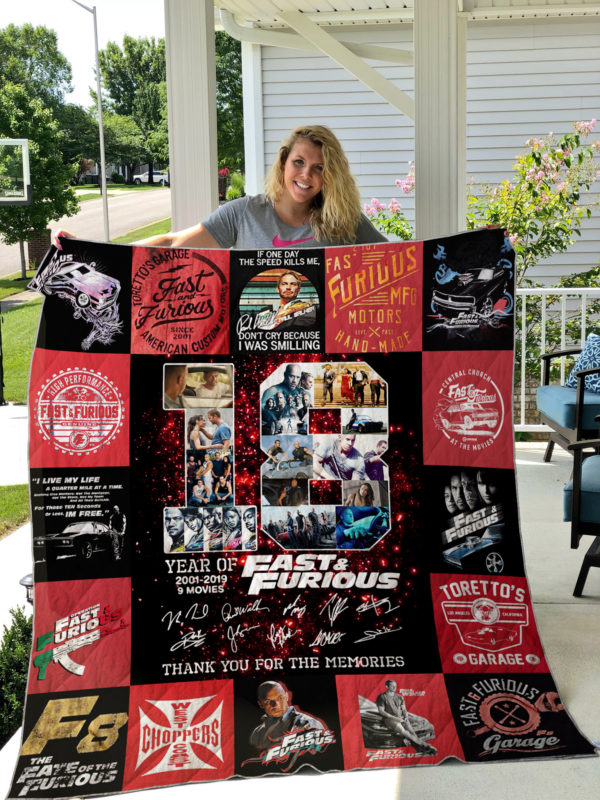 Fast & Farious Style 3 Quilt Blanket