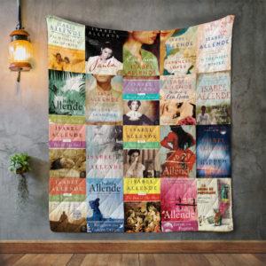 Isabel Allende Books Quilt Blanket