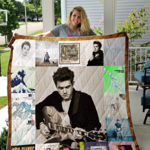 John Mayer Style 3 Album Covers Quilt Blanket