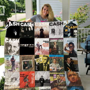 Johnny Cash Style 2 Quilt Blanket