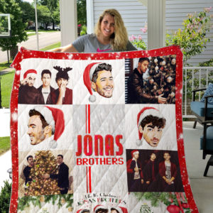 Jonas Brothers Christmas Quilt Blanket