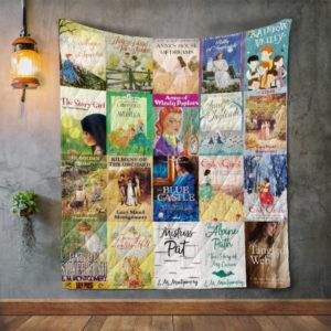L.M. Montgomery Books Quilt Blanket