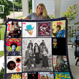 Love (Band) Album Covers Quilt Blanket