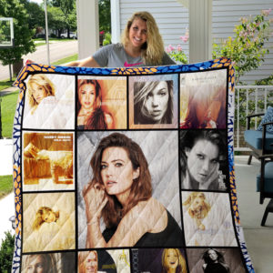 Mandy Moore Album Covers Quilt Blanket