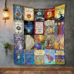 Michael Scott Books Quilt Blanket