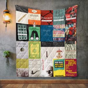 Michel Foucault Books Quilt Blanket