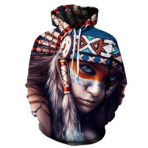Native American Girl 3D Hoodie
