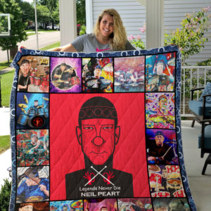 Neil Peart Painting Quilt Blanket