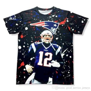 New Tom Brady NFL Player Quarterback New England Patriots Style 2 3D Print T-Shirt