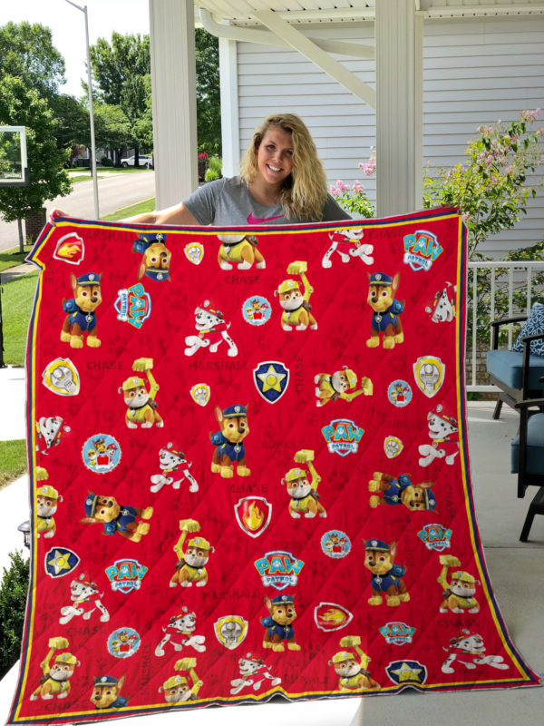 Paw Patrol For Boy Quilt Blanket