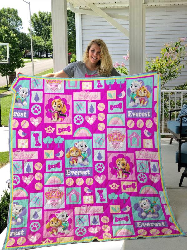 Paw Patrol For Girl Quilt Blanket