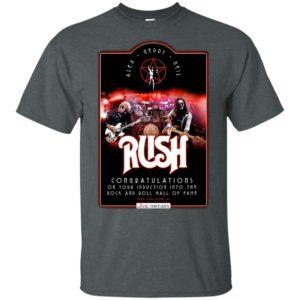 Rush Live Nation, Alex, Geddy, Neil Black Shirt