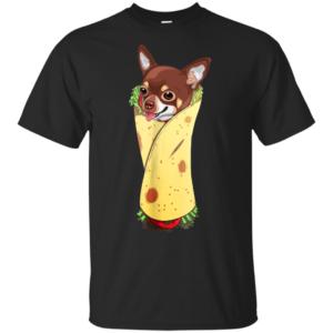 Funny Chihuahua Dog Burrito Food Tee T-Shirt