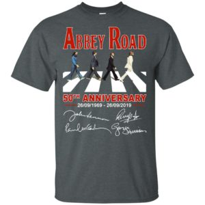 The Beatles album Abbey Road 50th Anniversary 1969-2019 Shirt