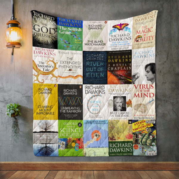 Richard Dawkins Books Quilt Blanket