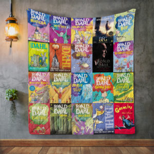 Roald Dahl Books Quilt Blanket