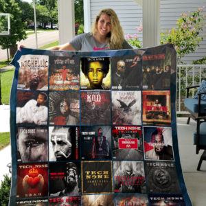 Tech N9NE Style 3 Album Covers Quilt Blanket