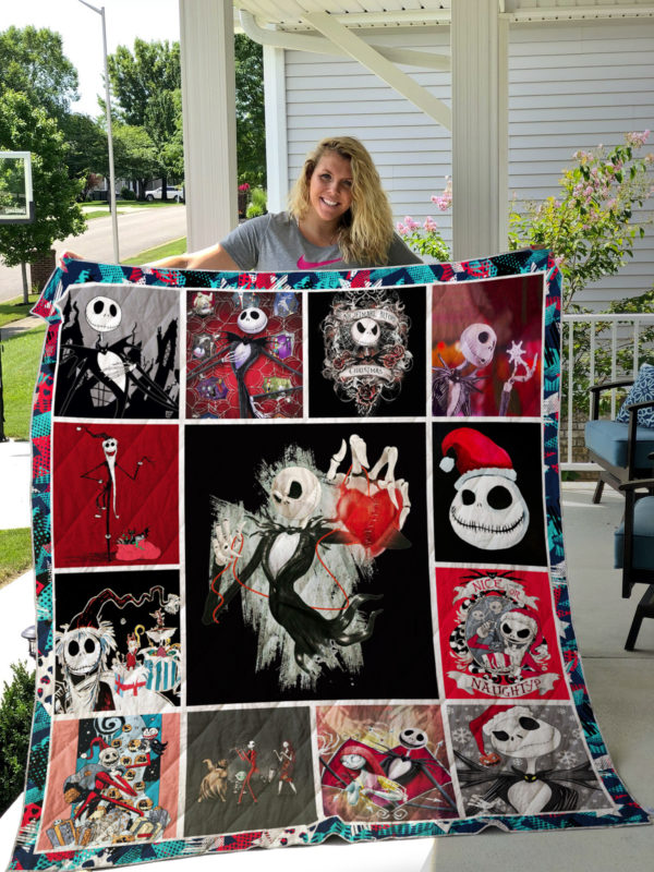 The nightmare before Christmas style 2 Quilt Blanket