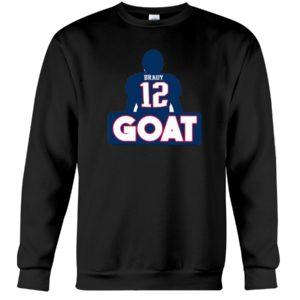 Tom Brady Goat 12 Crewneck Sweatshirt