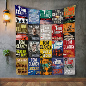 Tom Clancy Books Quilt Blanket