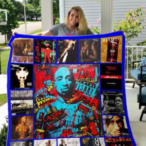 Tupac Shakur Style 3 Quilt Blanket