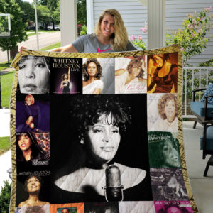 Whitney Houston Style 2 Album Covers Quilt Blanket